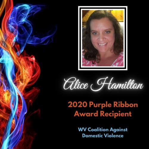 Alice Hamilton, 2020 Purple Ribbon Award Recipient, WV Coalition Against Domestic Violence